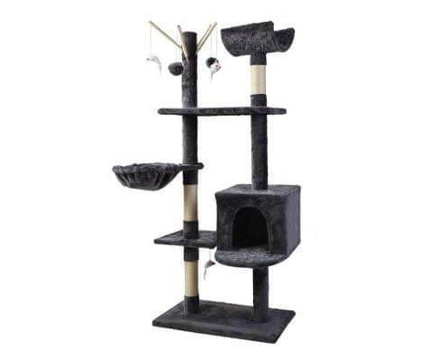 Image of Grey Cat Furniture Scratching Post Cat Play