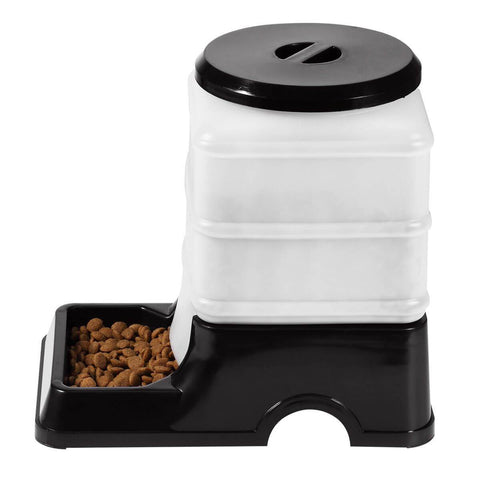 Image of 2 Auto Dog Cat Bird Rabbit Guinea Pigs Feeder & Water Dispenser Set - Black