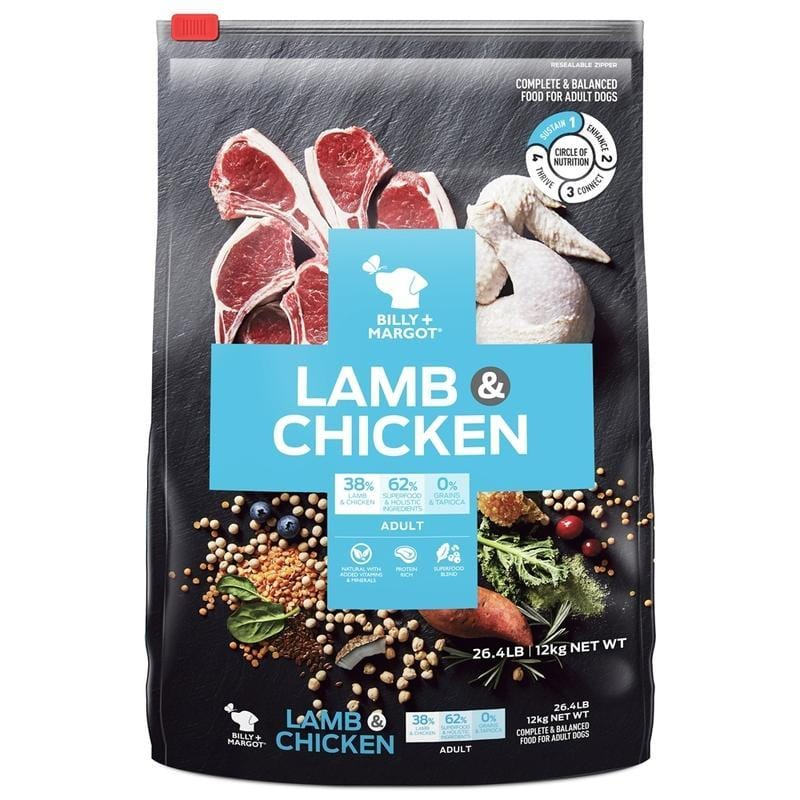 Billy + Margot Grain Free Lamb & Chicken Dry Dog Food 2.5kg Everyday Pets
