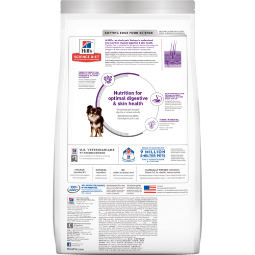 Hill's Adult Dog Sensitive Stomach & Skin Small & Mini Dry Dog Food Everyday Pets