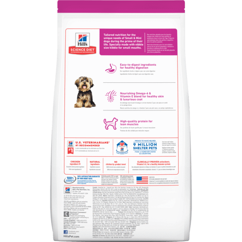 Hill's Adult Dog 1-6 Small Paws Chicken Meal & Rice Recipe Dog Food 1.5kg Everyday Pets