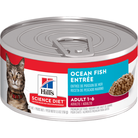 Image of Hill's Science Diet Adult Ocean Fish Entrée Cat Food Tray 24 x 156g Everyday Pets