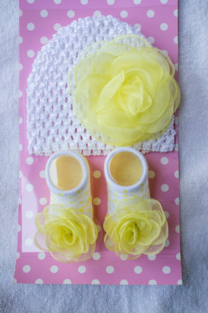 Dazzling dolls yellow rose cap with boots