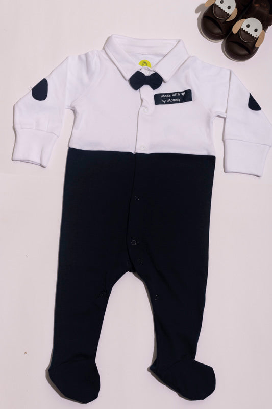 INFANT COTTON COLOR BLOCKED ROMPER