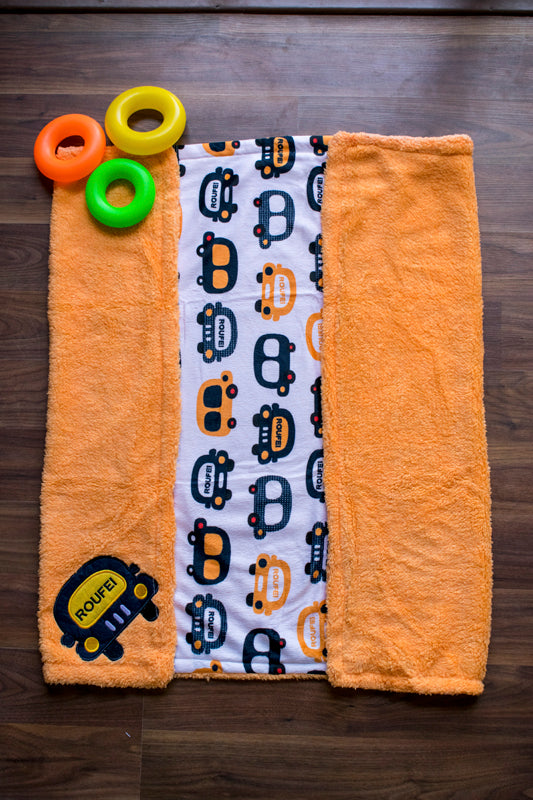 Tod n Fant Orange car Print blanket