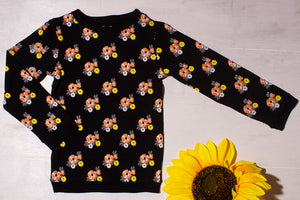 BLACK FLORAL summer sweatshirt
