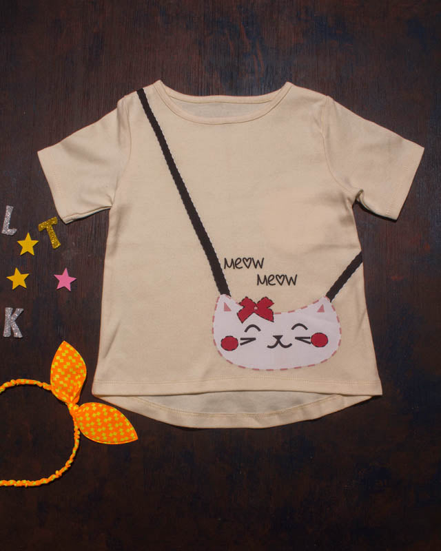 Missy N Messy Cotton Meow Top