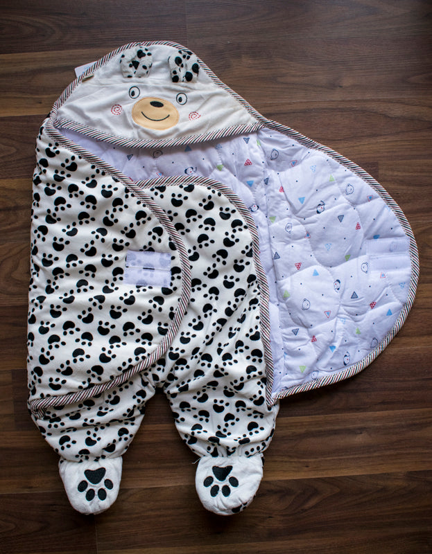 Cute paw stylish wrap for kids- black