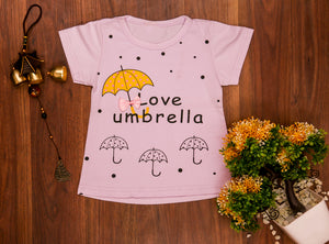 LOVE UMBRELLA PINK TOP