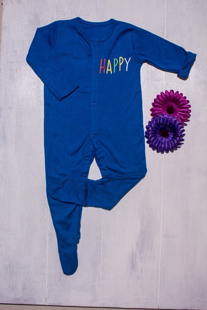 Happy Happy Blue Romper