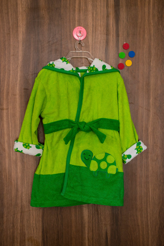 Ease in your shell inspired bathrobe for kids