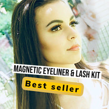 "Load image into Gallery viewer, MAGNETIC EYELINER & EYELASH KIT in ""Hotty"""