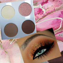 Load image into Gallery viewer, BEAUTIFULLY BLENDED EYESHADOW QUAD IN WARM