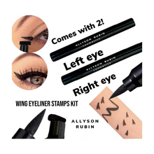 Load image into Gallery viewer, wing eyeliner stamp by Allyson Rubin cosmetics