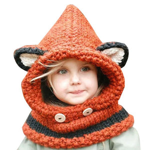 Children Windproof Hat and Scarf