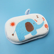 "Load image into Gallery viewer, Baby Cotton Sponge for Bath ""Funny Elephant"""