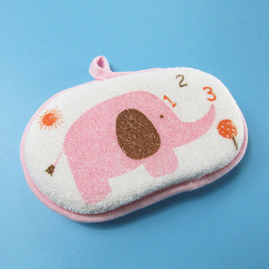 "Baby Cotton Sponge for Bath ""Funny Elephant"""