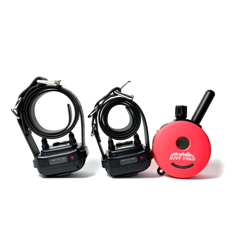 Pink Ruff Swag Face Plate on Mini Educator E-Collar. 1 Remotes 2 Collar System.