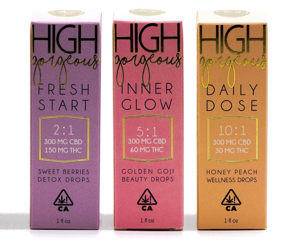 High Gorgeous 10:1 Tincture DAILY DOSE (300mg CBD/30mg THC)