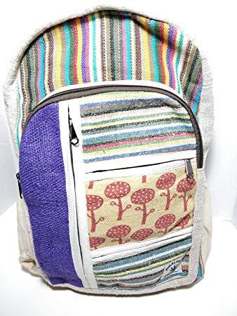 All Natural Handmade Multi Pocket Hemp Laptop Backpack