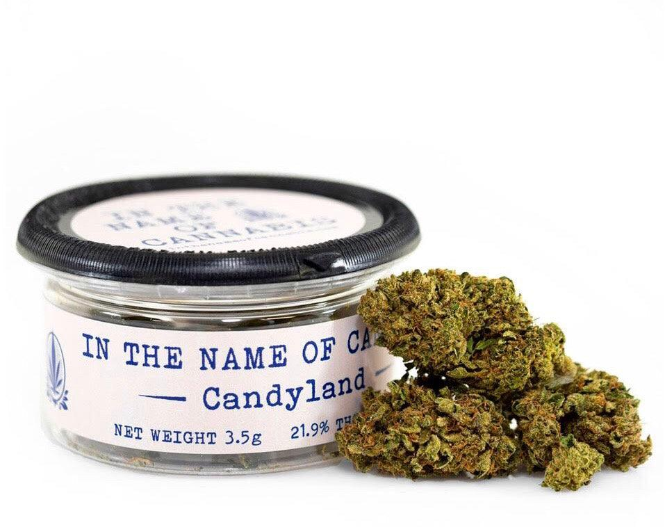 In the Name of Cannabis CANDYLAND (25.2% THC) Sativa Hybrid