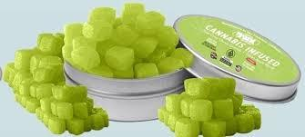 Sour Cube Chewy Gummie GREEN APPLE 100mg THC (Hybrid)