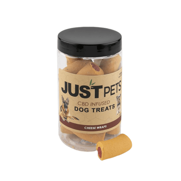 JUST PETS CBD 100mg Infused Treats CHEESE WRAPS (Dog)