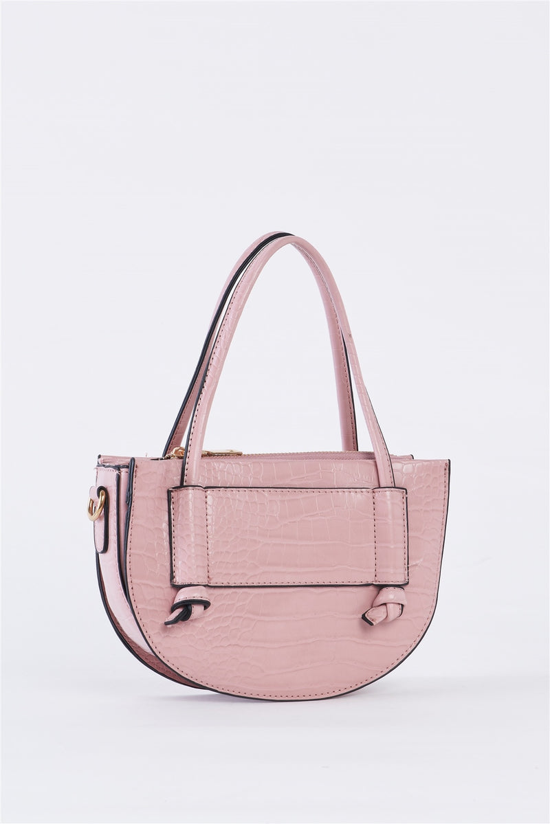 Powder Pink Croc Bag