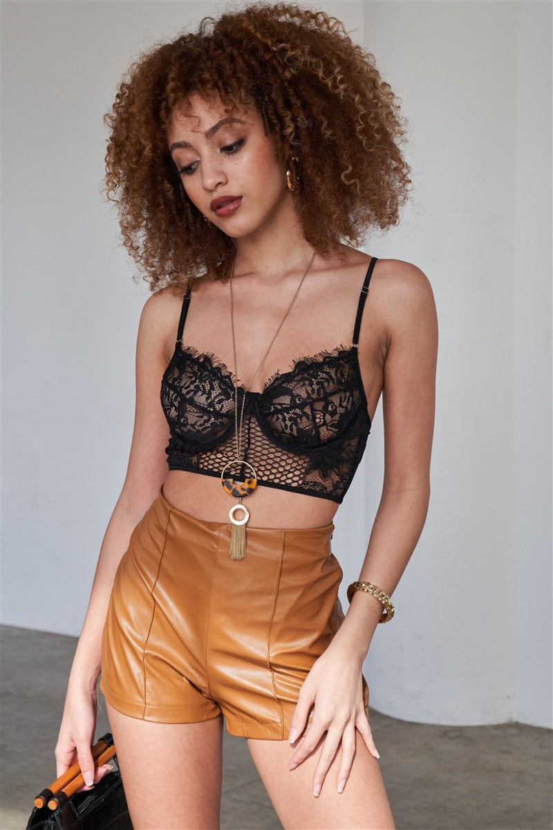 Ella Black Lace Bra Top