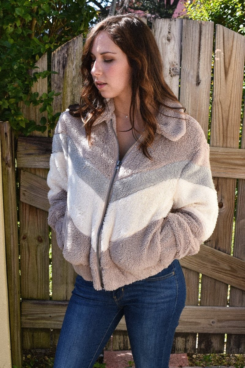 Mixey Faux Fur Jacket