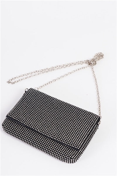 Rectangle Sparkly Clutch Bag