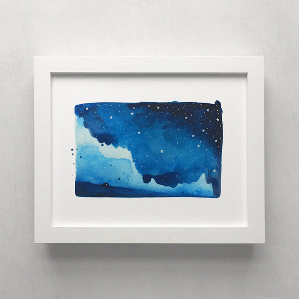 Watercolour Skies No. 5 Print - 8 x 10 inches
