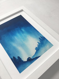 Watercolour Skies No. 10 Print - 8 x 10 inches