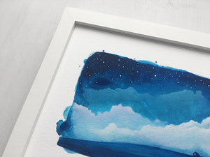 Watercolour Skies No. 8 Print - 8 x 10 inches
