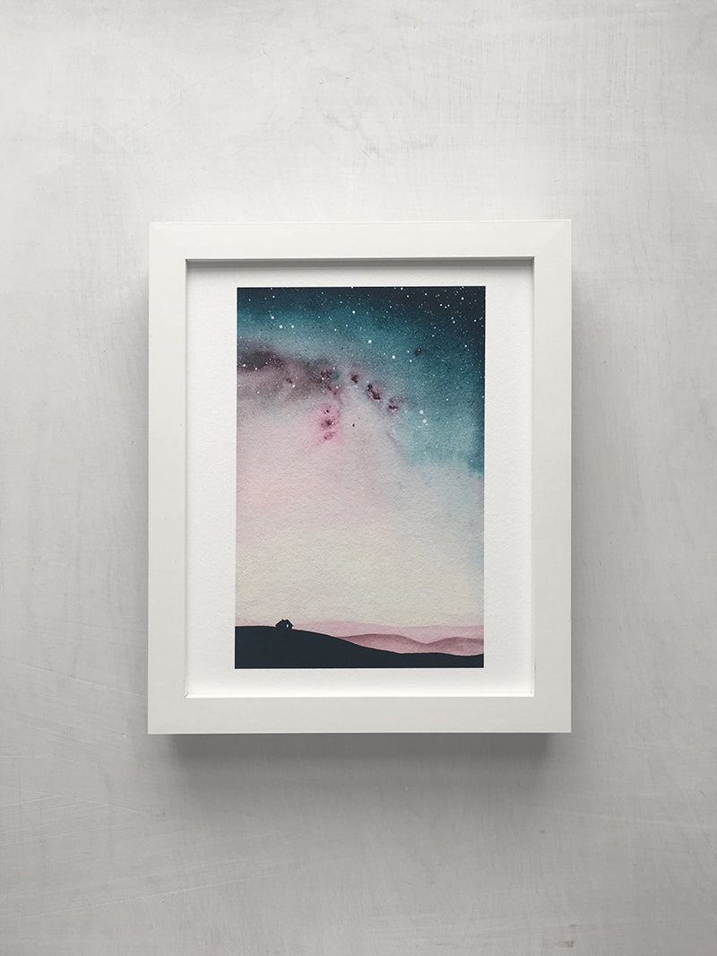 Watercolour Skies No. 9 Print - 8 x 10 inches