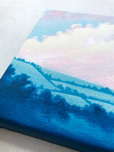 "Original Painting - ""Through Sunlit Fields"" - 6 x 12 inch canvas"