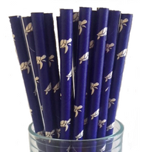 Load image into Gallery viewer, Signature Deep Blue Paper Straws - Wholesale - Deep Blue Straws
