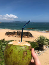 Load image into Gallery viewer, Deep Blue Stainless Steel Straw Deep Blue Straws