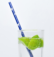 Load image into Gallery viewer, Signature Deep Blue Paper Straws Deep Blue Straws