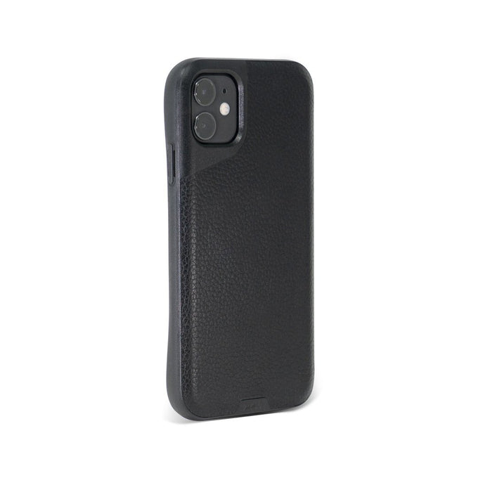 Black Leather Indestructible iPhone 11 Case