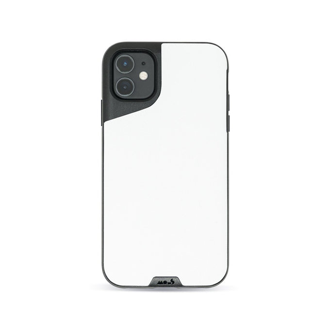White Leather Indestructible iPhone 11 Case
