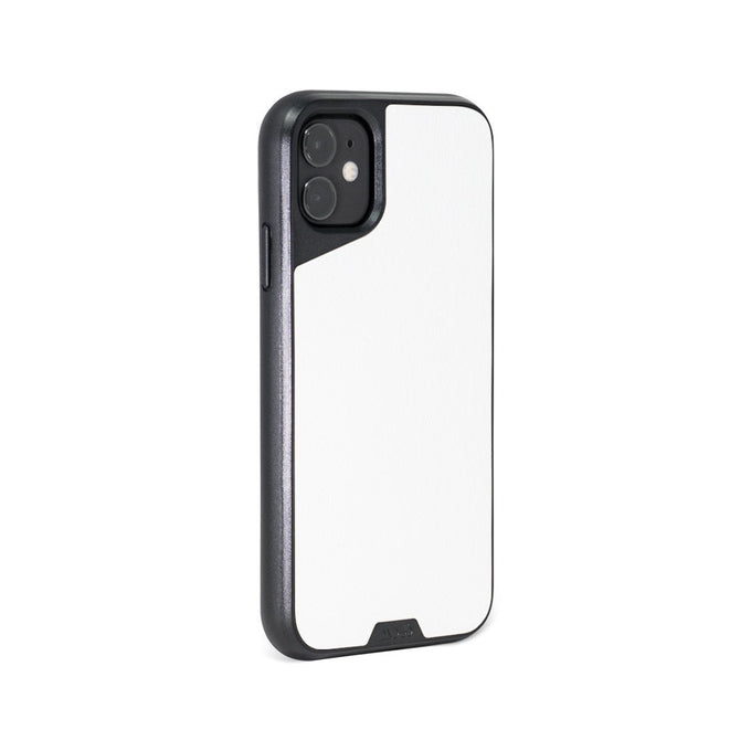 White Leather Strong iPhone 11 Case