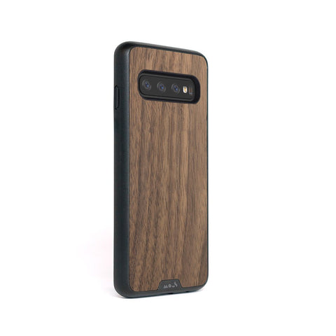 Walnut Indestructible Samsung S10 Case