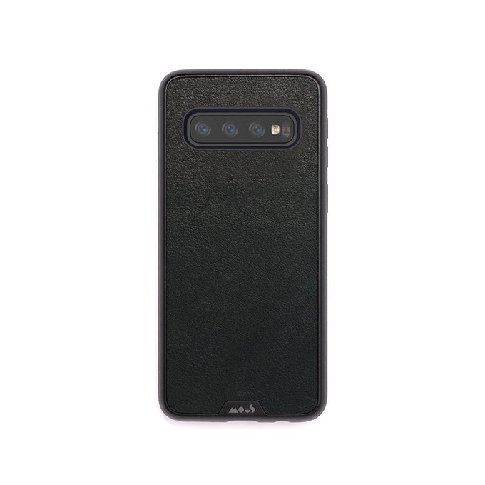 Black Leather Protective Samsung S10 Case