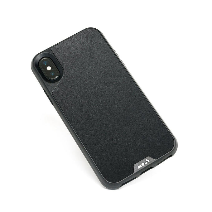 Black Leather Indestructible iPhone XS Max Case