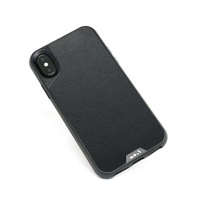 Black Leather Indestructible iPhone X and XS Case
