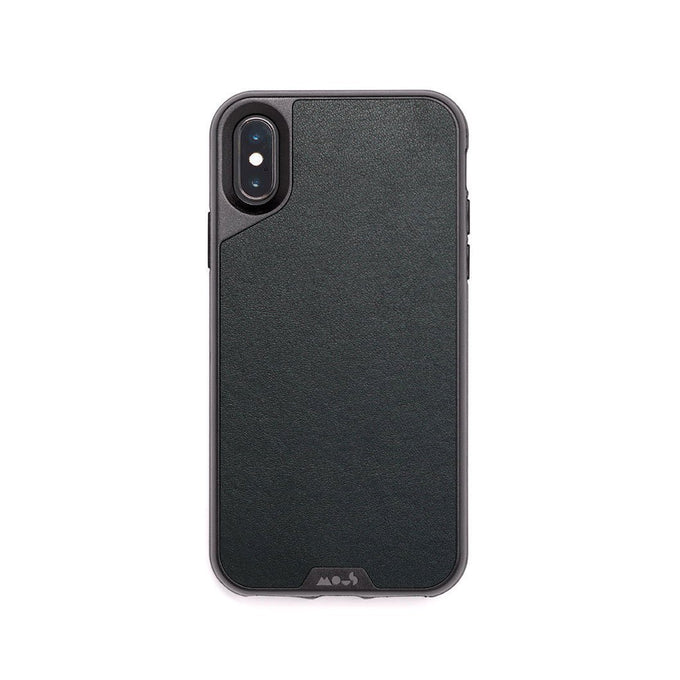 Black Leather Unbreakable iPhone X and XS Case