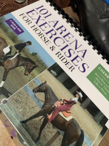 Lamenated book of 101 Arena Exercises for Horse and Rider