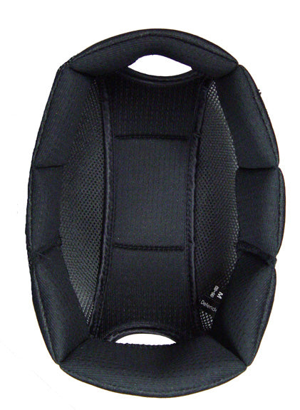 Black equestrian helmet liner for One K Helmets.