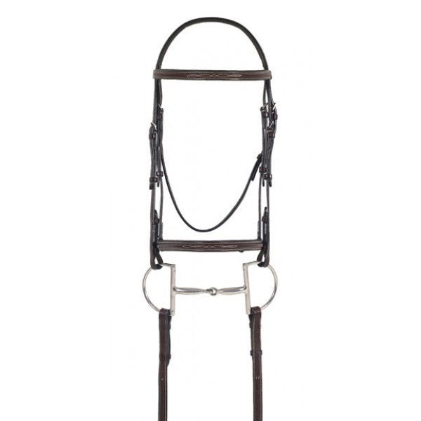 Ovation Elite Fancy Raised Comfort Crown Bridle w/Fancy Raised Lace Reins